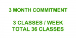 3 Month Commitment: 3Classes/Week